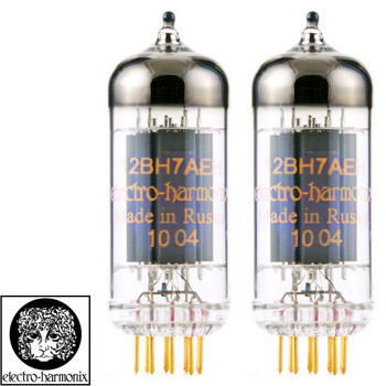Brand New Gain Matched Pair (2) Electro-Harmonix 12BH7 Gold Pin Vacuum Tubes