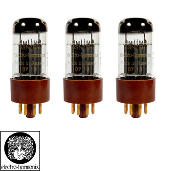 Brand New Gain Matched Trio (3) Electro-Harmonix 6SN7 Gold Pin Vacuum Tubes