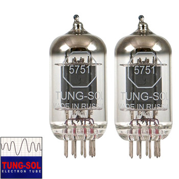 Brand New Gain Matched Pair (2) Tung-Sol Reissue 5751 Vacuum Tubes
