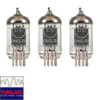 Brand new Gain Matched Trio (3) Tung-Sol Reissue 5751 Vacuum Tubes