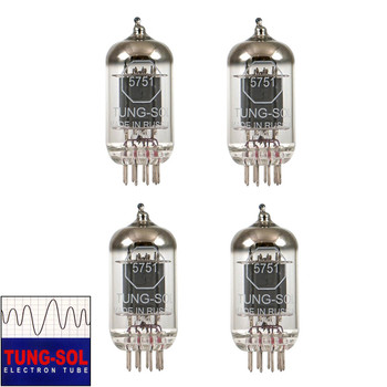 Brand New Gain Matched Quad (4) Tung-Sol Reissue 5751 Vacuum Tubes