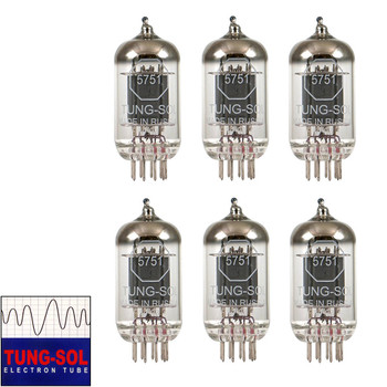 Brand New Gain Matched Sextet (6) Tung-Sol Reissue 5751 Vacuum Tubes