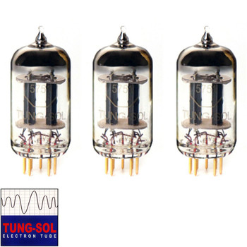 New Gain Matched Trio (3) Tung-Sol Reissue 5751 Gold Pin Vacuum Tubes