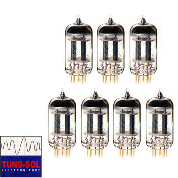 New Gain Matched Septet (7) Tung-Sol Reissue 5751 Gold Pin Vacuum Tubes