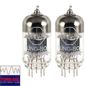 Brand New Gain Matched Pair (2) Tung-Sol Reissue 6EU7 Vacuum Tubes