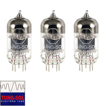 Brand New Gain Matched Trio (3) Tung-Sol Reissue 6EU7 Vacuum Tubes