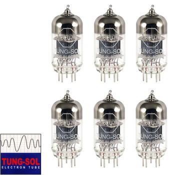 Brand New Gain Matched Sextet (6) Tung-Sol Reissue 6EU7 Vacuum Tubes