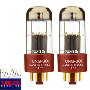 Brand New Gain Matched Pair (2) Tung-Sol Reissue 6SL7 Gold Pin Vacuum Tubes