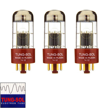 Brand New Gain Matched Trio (3) Tung-Sol Reissue 6SL7 Gold Pin Vacuum Tubes