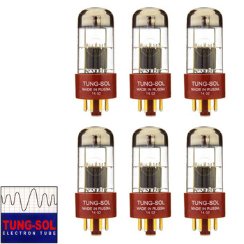 Brand New Gain Matched Sextet (6) Tung-Sol Reissue 6SL7 Gold Pin Vacuum Tubes