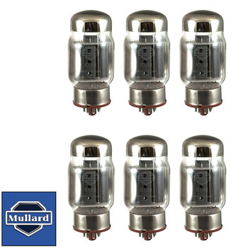 New Plate Current Matched Sextet (6) Mullard Reissue KT88 / 6550 Vacuum Tubes