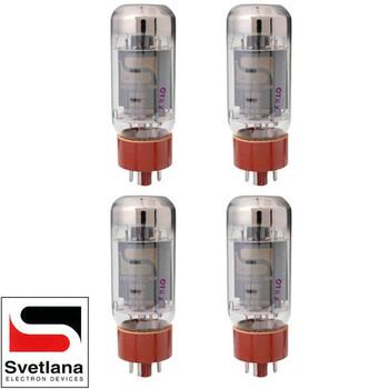 Brand New Plate Current Matched Quad (4) Svetlana SV-6L6GC Vacuum Tubes