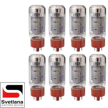 Brand New Plate Current Matched Octet (8) Svetlana SV-6L6GC Vacuum Tubes