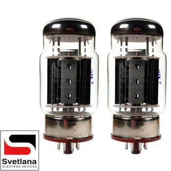 Brand New Plate Current Matched Pair (2) Svetlana KT88-SV Gold Grid Vacuum Tubes
