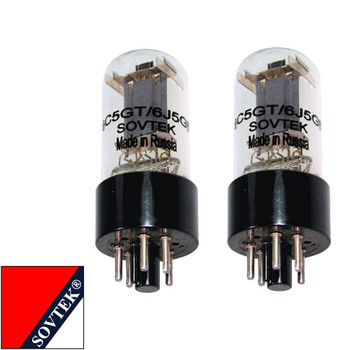 Brand New Gm Matched Pair (2) Sovtek 6J5GT Vacuum Tubes