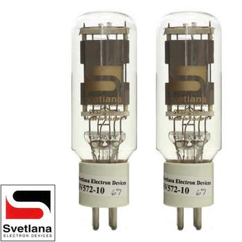 Brand New Factory Matched Pair (2) Svetlana SED SV-572-10 Vacuum Tubes