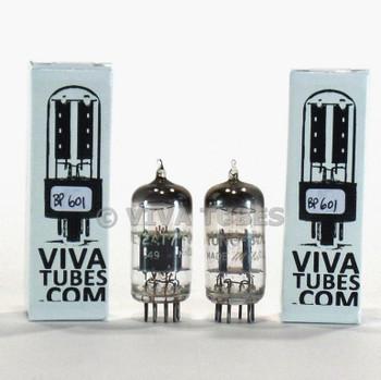 Tests NOS Matched Pair Vintage Tung-Sol USA JTL-12AT7WA [ECC81] Grey Plate Tubes