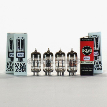 Tests NOS Matched Quad 4 RCA USA 12AT7 [ECC81] Black Plate [] Get Vacuum Tubes
