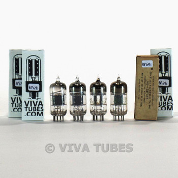 Tests NOS Matched Quad (4) Sylvania USA JHS-12AT7WA [ECC81] 3 Mica Tubes