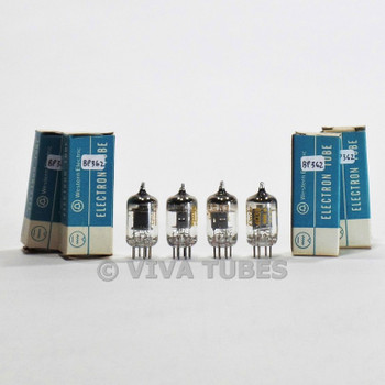 True NOS NIB Date Matched Quad Western Electric 403B [5654 6AK5] Black Plt Tubes