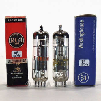 True NOS NIB Matched Pair Amperex Holland 6GW8/ECL86 3 Mica Tubes