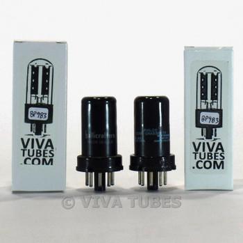 Tests NOS Matched Pair 2 GE USA 6J5 Metal Vacuum Tubes