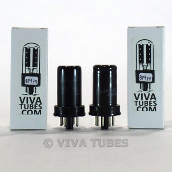 Tests NOS Matched Pair GE USA JAN-CG-6J5/VT-94 Metal Vacuum Tubes