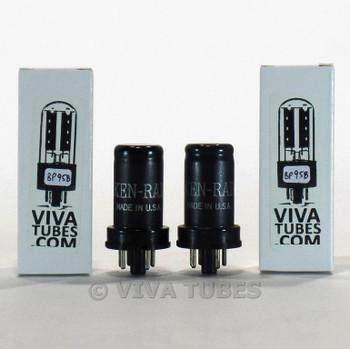 Tests NOS Date Matched Pair Ken-Rad USA 6J5 Metal Vacuum-Tubes