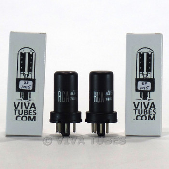 Tests NOS Matched Pair RCA U S A 6J5 Metal Vacuum Tubes