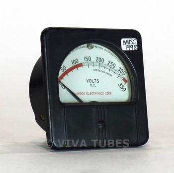 Vintage Lambda Rectangular 301-57 DC Volt Panel Meter 0-350 VDC