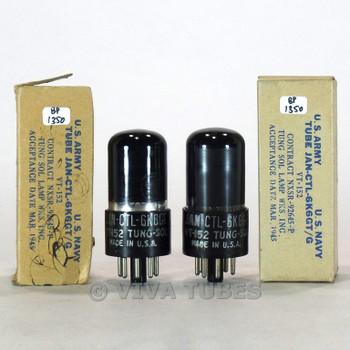 True NOS NIB Date Matched Pair Vintage Tung-Sol USA JAN-CTL-6K6GT/VT-152 Tubes