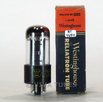True NOS NIB Westinghouse USA 6K6GT Square Black Plate Top [] Get Vacuum Tube