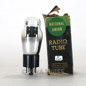 True NOS NIB National Union NU USA 6L5G Wide Grey Round Center Plate Tube