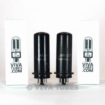 Tests NOS Date Matched Pair Ken-Rad JAN-CKR-6L6/VT-115 Metal Vacuum Tubes