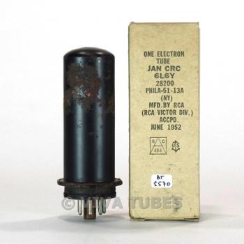 True NOS NIB RCA USA JAN-CRC-6L6Y Metal Brown Base, Rust Vacuum Tube