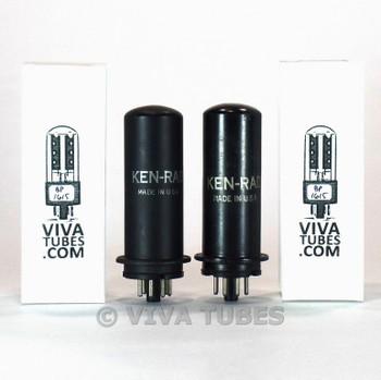 Tests NOS Matched Pair GE / Ken-Rad USA 6L6 Metal Vacuum Tubes