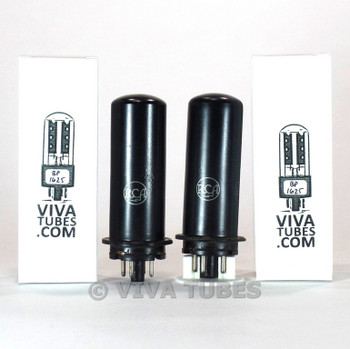 Tests NOS Date Matched Pair RCA USA 6L6 Metal Vacuum Tubes