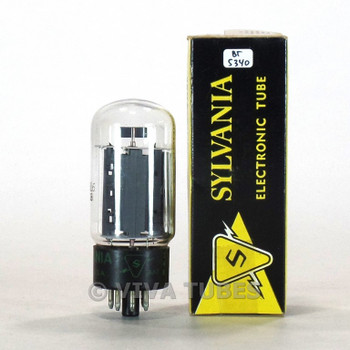 True NOS NIB Sylvania USA 6L6GB Grey Plate Side O Get Vacuum Tube