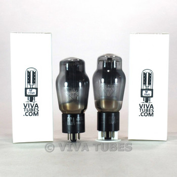 Tests NOS Matched Pair RCA USA 6L6G Black Smooth Plate 2 [] Get Smoked Tubes