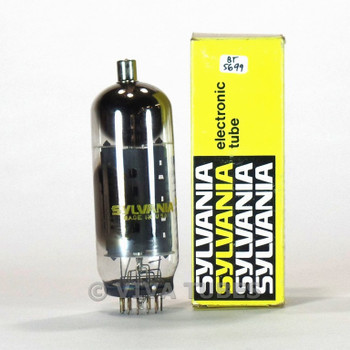 True NOS NIB Sylvania USA 6LX6 Grey Plate 2 Side O 2 Top O Get Vacuum Tube