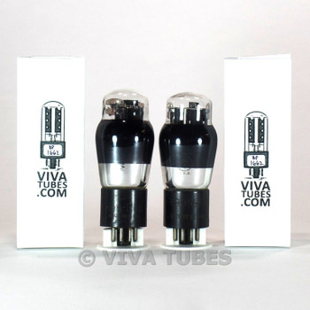 Matched Pair Ken-Rad USA 6N6G Grey T Plate  ENGRAVED Smoked Vacuum Tubes 91%