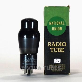 True NOS NIB National Union NU USA 6N6G Grey Plate Foil D Get Vacuum Tube