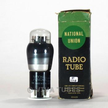 True NOS NIB National Union NU USA 6N6G Grey Plate Smoked Vacuum Tube