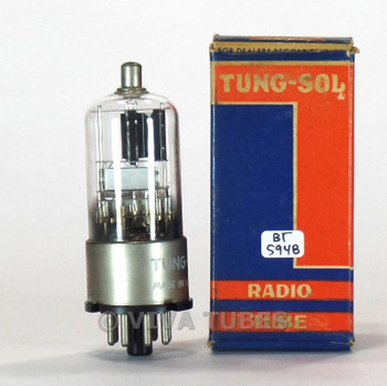 True NOS NIB Vintage Tung-Sol USA 6S8GT Black Plate 3 Mica Metal Base Tube