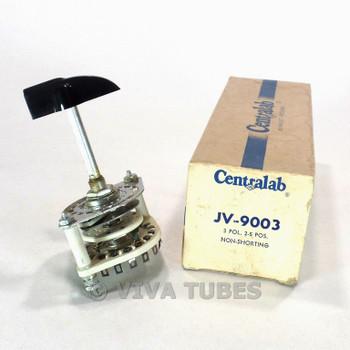 NOS NIB CRL JV9003 Rotary Switch With Knob 3 POL 2-5 POS
