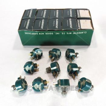 NOS NIB Vintage Lot of 10 Clarostat 49M9-5 Rotary Potentiometers 5 ohm 1.5W