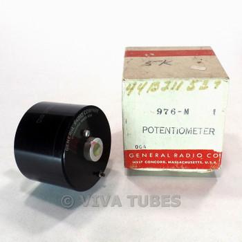 NOS NIB Vintage General Radio Type 976-M Potentiometer 5000 5K ohm