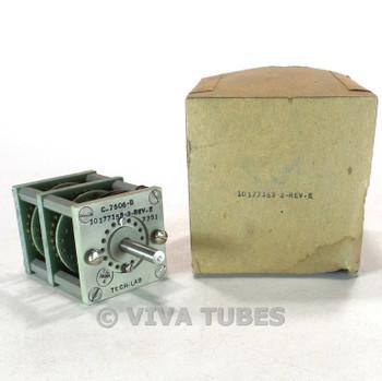 NOS NIB Vintage Tech-Lab 10177153-2-REV-E Rotary Switch 3 Decks