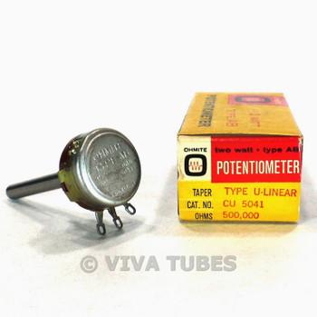 NOS NIB Vintage Ohmite CU-5041 Type AB Potentiometer 2W 500K ohm