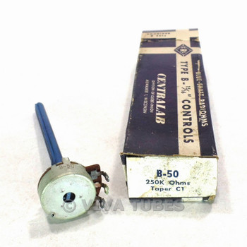 NOS NIB Vintage Centralab Type B-50 Control Potentiometer 250000 250K ohm